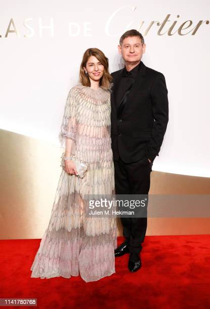 Cartier CEO Cyrille Vigneron and Sofia Coppola attend the 'Clash De Cartier' Launch Photocall At La Conciergerie In Paris on April 10 2019 in Paris...