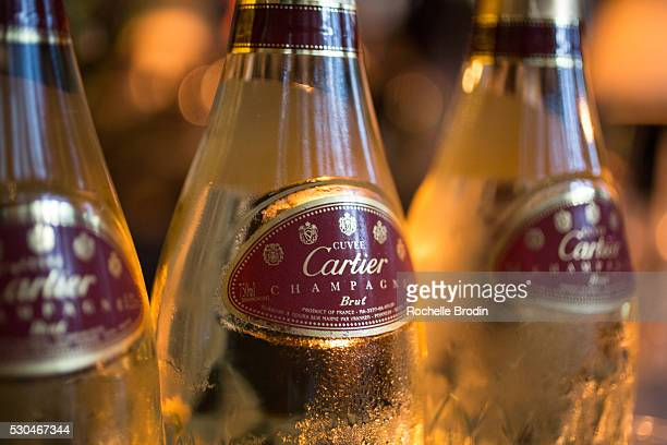 Cartier champagne is part of the general atmosphere at the Who What Wear visionaries launch at Ysabel on May 10 2016 in West Hollywood California
