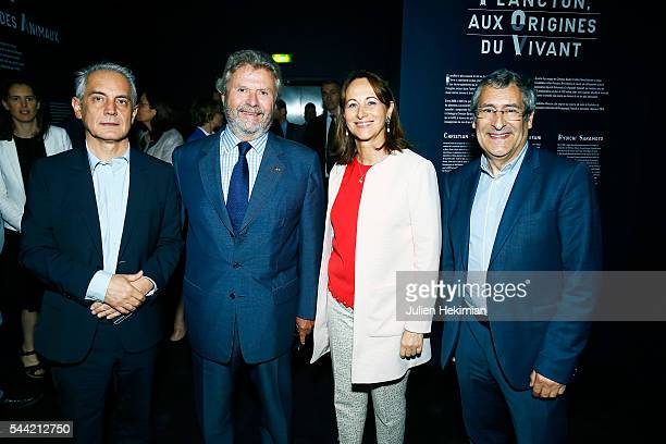 Cartier Foundation Director Herve Chandes Cartier Foundation President Alain Dominique Perrin French Minister for Ecology Segolene Royal and French...