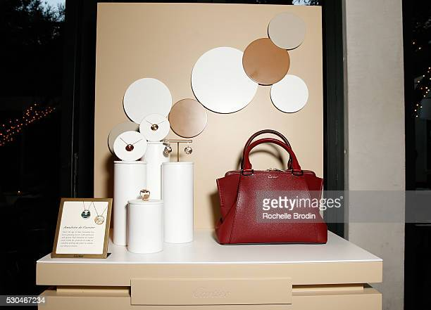 Cartier handbags and accessories are part of the general atmosphere at the Who What Wear visionaries launch at Ysabel on May 10 2016 in West...