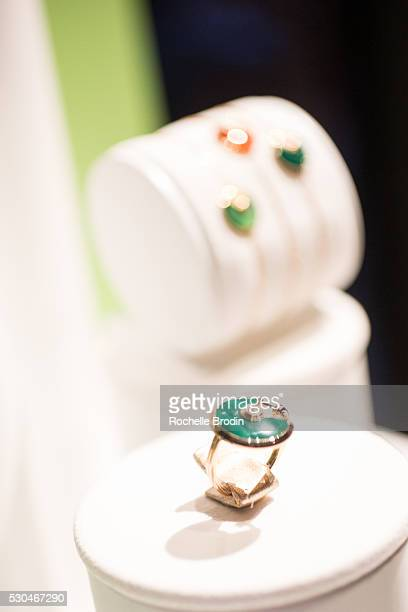Cartier handbags and jewelry are part of the general atmosphere at the Who What Wear visionaries launch event at Ysabel on May 10 2016 in West...
