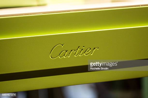 Cartier handbags and jewelry is part of the general atmosphere at the Who What Wear visionaries launch event at Ysabel on May 10 2016 in West...