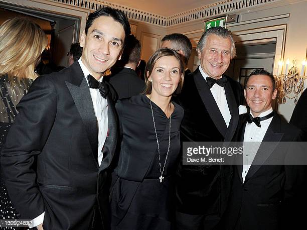 Cartier Managing Director Francois Le Troquer Catherine Dettori Executive Chairman of Cartier UK Arnaud Bamberger and horse racing jockey Frankie...