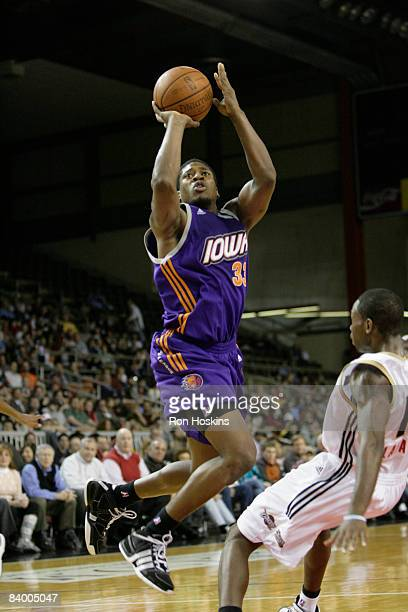 Cartier Martin of the Iowa Energy shoots over a Erie BayHawk defender at Tullio Arena on December 11 2008 in Erie Pennsylvania NOTE TO USER User...