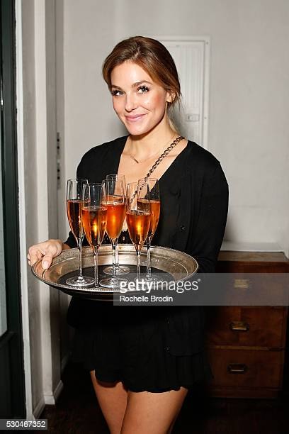 Cartier Rose Champagne is served at the Who What Wear Visionaries Launch at Ysabel on May 10 2016 in West Hollywood California
