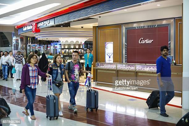 Cartier shop in Duty Free Shopping area et Dubai International Airport on December 04 2016 in Dubai United Arab Emirates