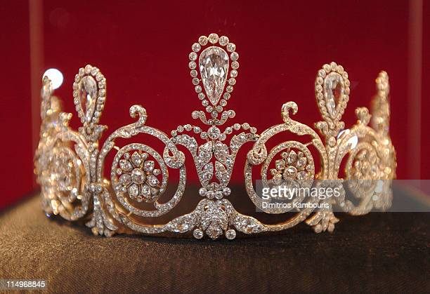 Cartier Tiara during Cartier 25th Anniversary of the Beloved Holiday Bow Celebration at Cartier Mansion Fifth Avenue in New York City New York United...