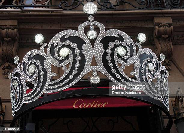 Cartier Tiara outside the Cartier Mansion during Cartier 25th Anniversary of the Beloved Holiday Bow Celebration at Cartier Mansion Fifth Avenue in...