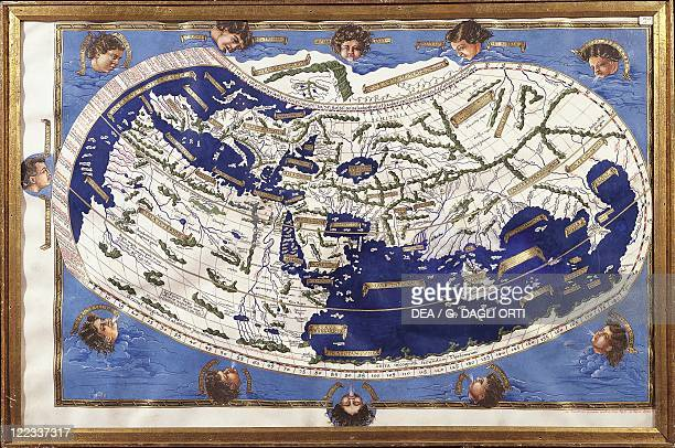 Cartography 15th century World map according to Ptolemy's views Copy created by Henricus Martellus Germanius