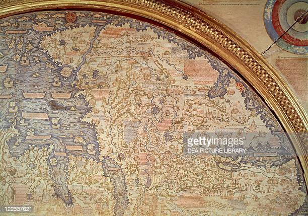 Cartography 15th century World map by Camaldolese monk Fra Mauro 1449 Detail Ethiopia