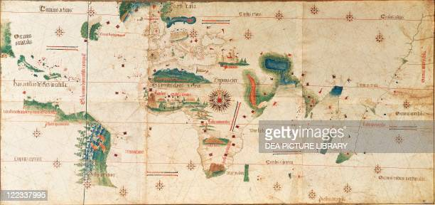 Cartography 16th century Cantino planisphere by Alberto Cantino 1502