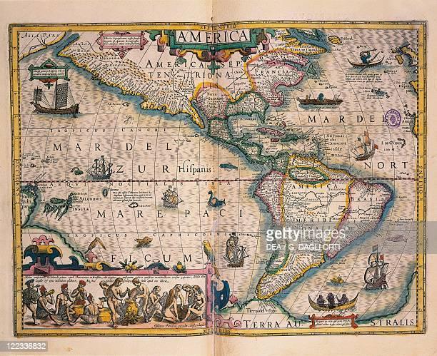Cartography 16th century Map of America by Gerardo Mercatore