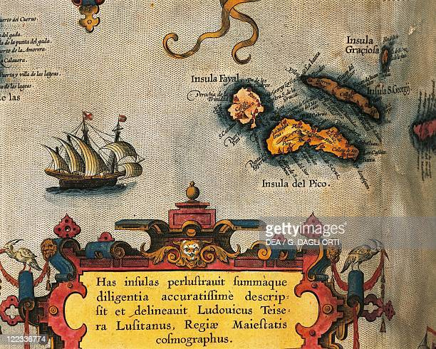 Cartography 16th century Map of Azores Islands From Theatrum Orbis Terrarum by Abraham Ortelius