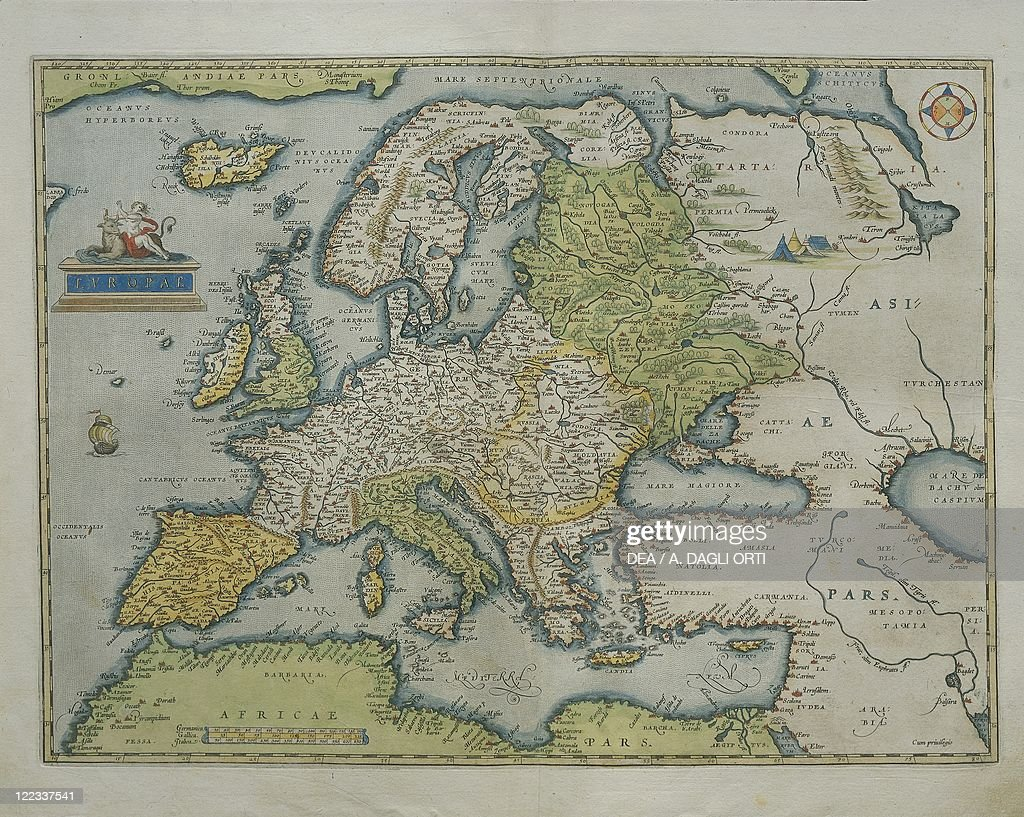 Cartography 16th Century Map Of Europe From Theatrum Orbis