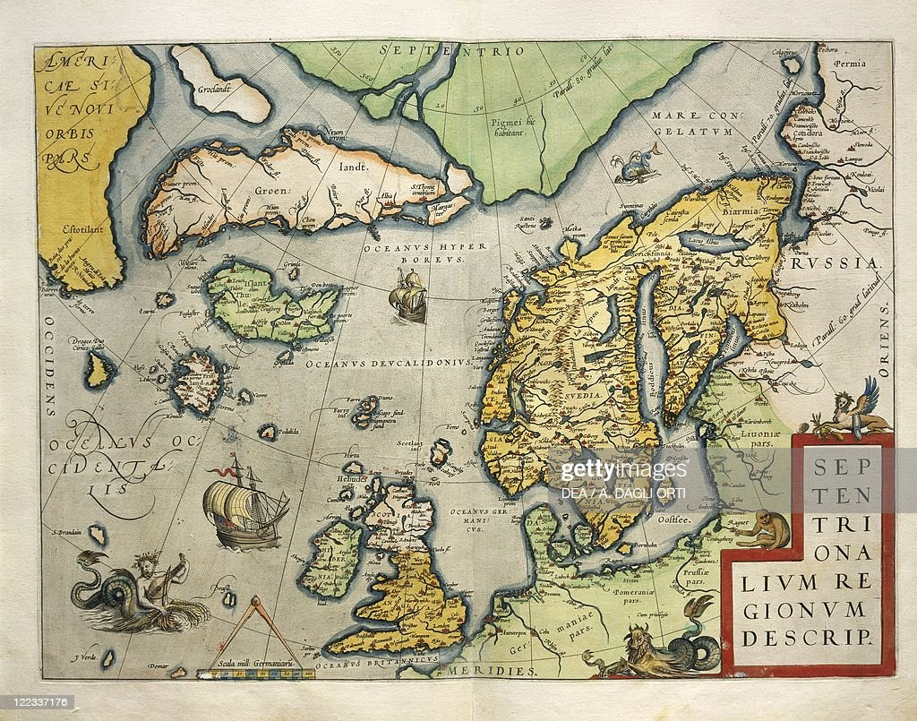 Cartography 16th Century Map Of Northern Europe From Theatrum