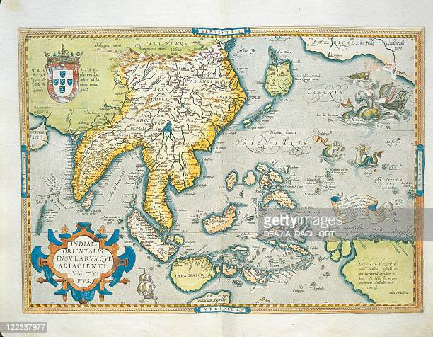 Cartography 16th century Map of the Indies from Theatrum Orbis Terrarum by Abraham Ortelius Antwerp 1570