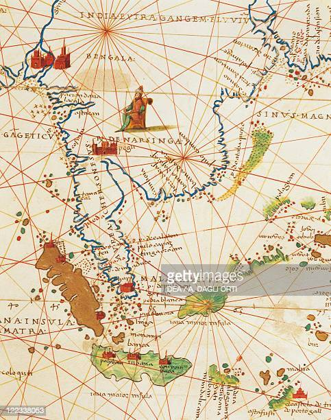 Cartography 16th century The Indian Ocean and part of Asia and Africa Malaysia and islands of Java and Sumatra from Atlas of the World in thirtythree...