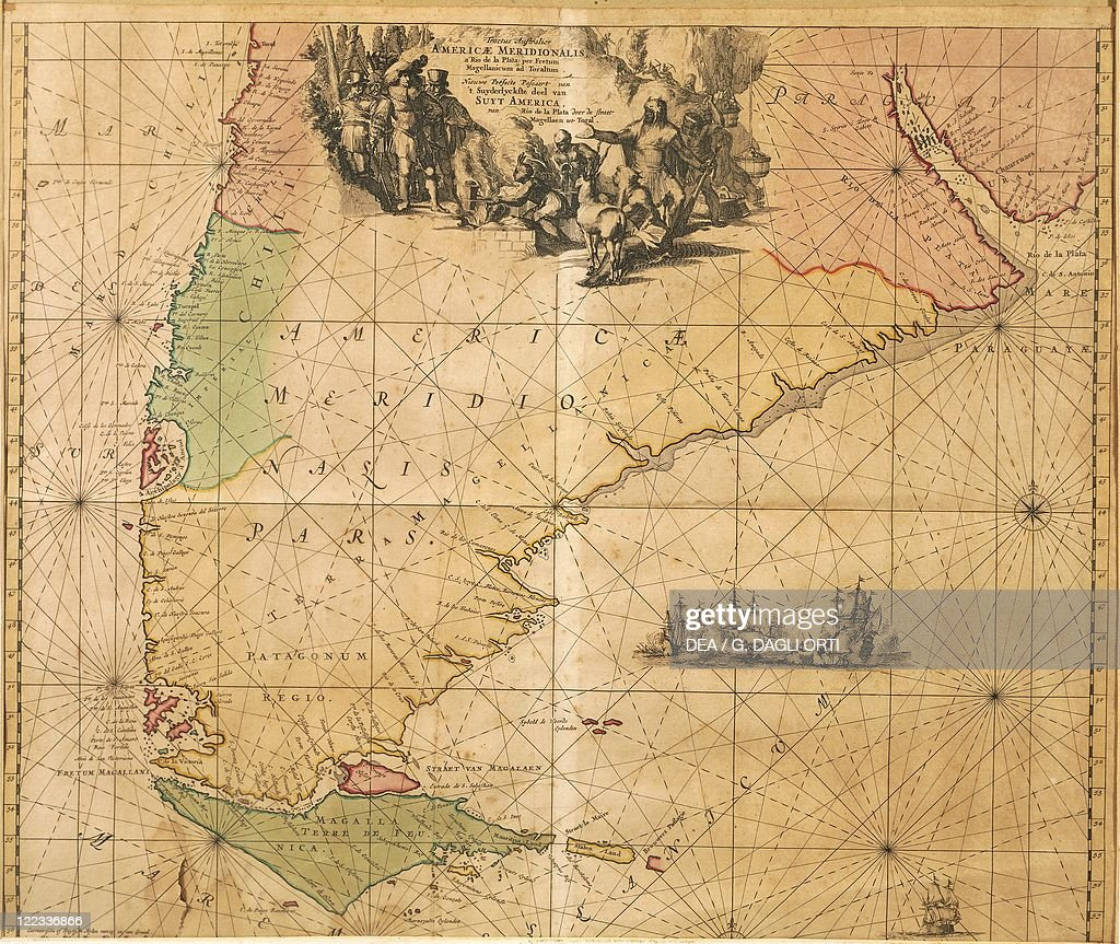 Map of Southern America by Frederick De Wit Pictures | Getty Images