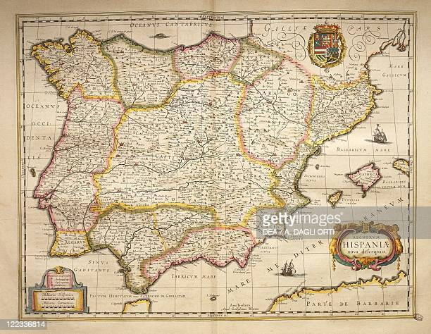 Cartography 17th century Spain From Theatrum Orbis Terrarum by Willem Bleau Amsterdam 16351645