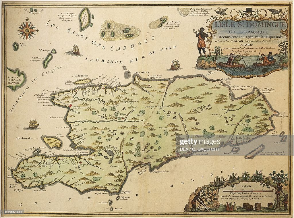Map of Santo Domingo created by Nicolas de Fer 1723 Pictures