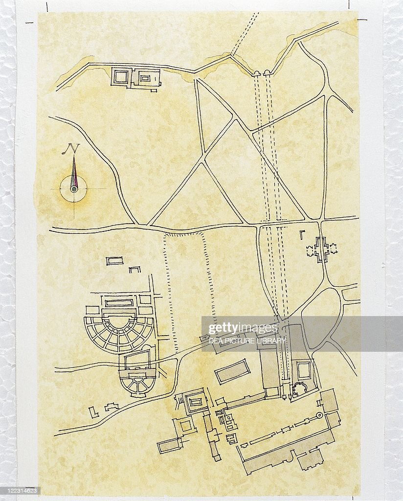 Cartography Ancient Greece Map Of Corinth 2nd Century Bc News