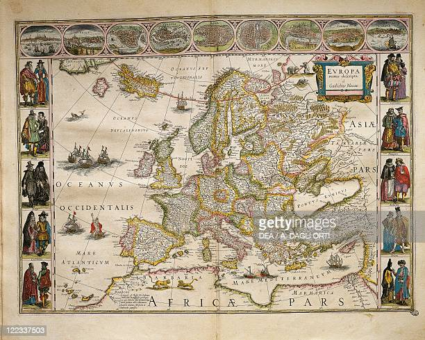 Cartography Europe 17th century From Theatrum Orbis Terrarum by Willem Bleau Amsterdam 16351645