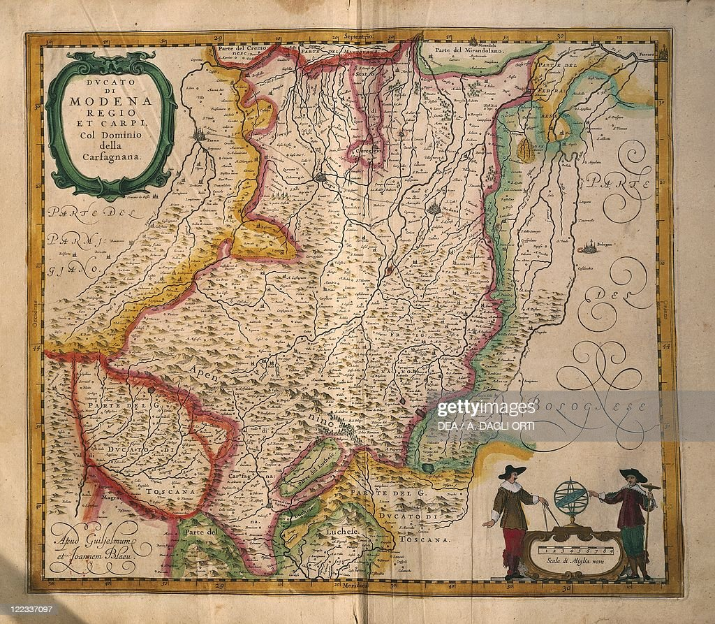 Map of Modena from Theatrum civitatum et admirandorum Italiae by