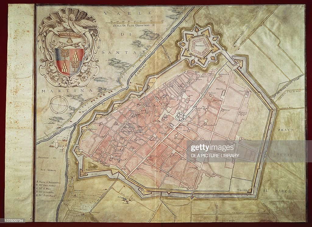 City Map Of Ferrara Emilia Romagna Region Pictures Getty Images - Ferrara map