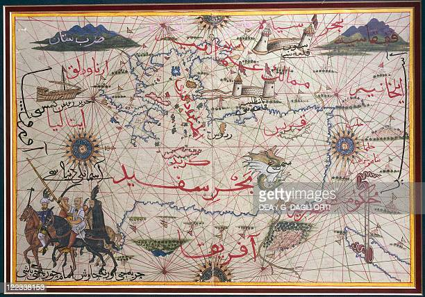 Cartography late 16th century The Maghreb and the Middle East Ottoman miniature