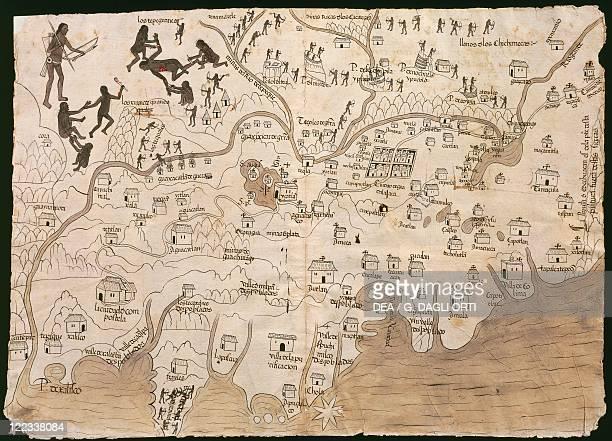 Cartography Mexico 16th century Map of Nueva Galicia historic territory of Mexico 1550