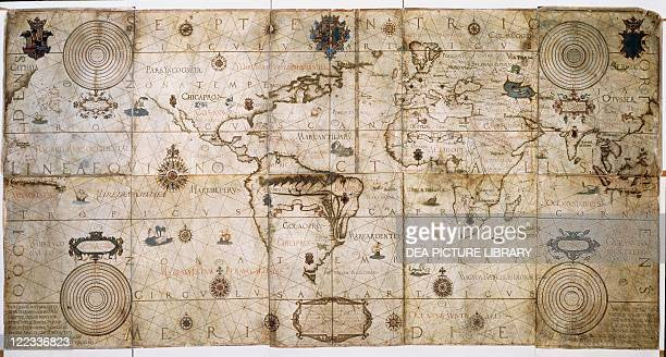 Cartography Portugal 16th century Nautical planisphere by Andreas Homen 1559