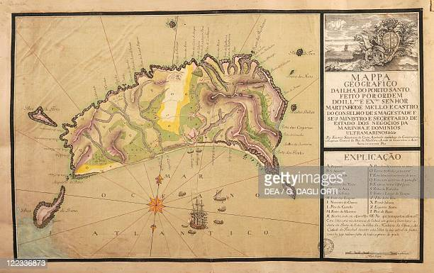 Cartography Portugal 18th century Map of the Island of Madeira