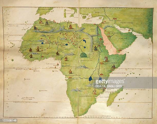 Cartography16th century Africa From the Atlas of Nautical Charts by Battista Agnese 30 October 1554