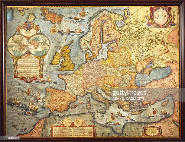Cartography17th century Map of Europe 1686 by J Blaeu