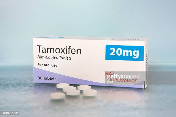 carton and tablets of breast cancer drug tamoxifen - oestrogen stock pictures, royalty-free photos & images
