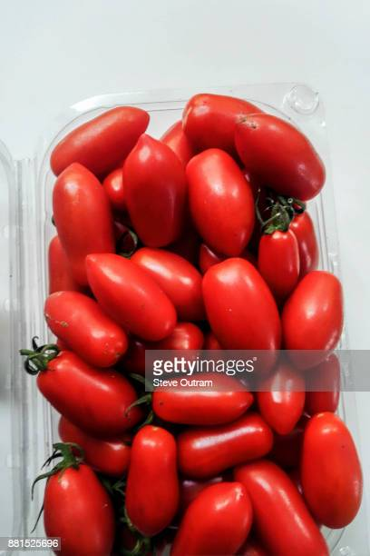 Carton of biologically grown Tomatoes