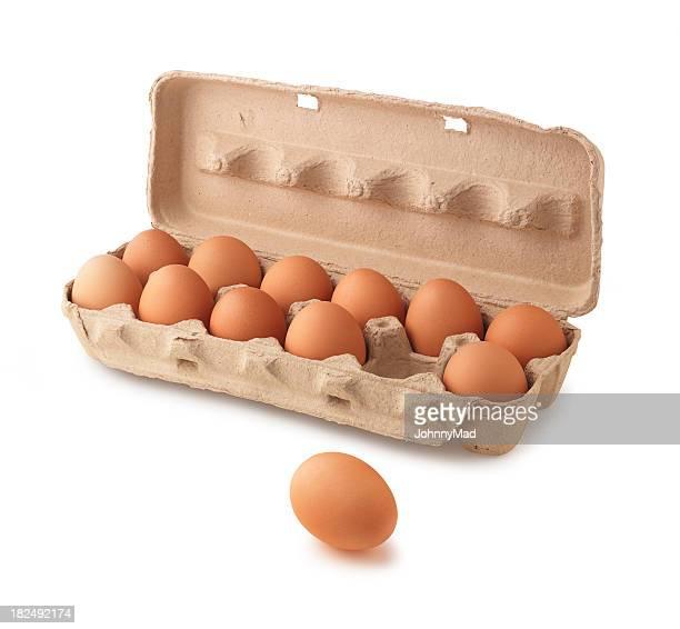 Kartonverpackung von Eiern