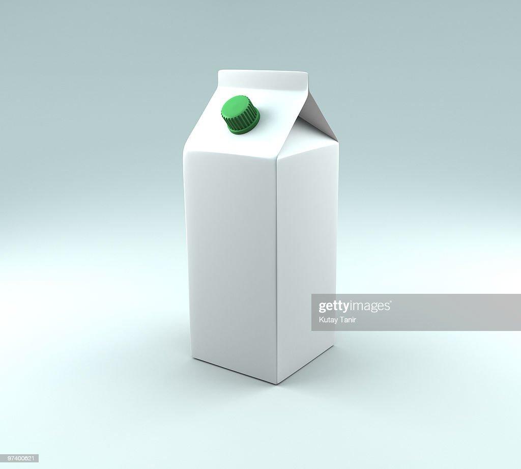 A carton of milk. : Stock Photo