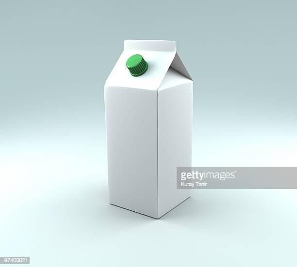 a carton of milk. - milk carton stock photos and pictures