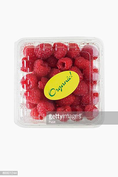 Carton of Organic Raspberries