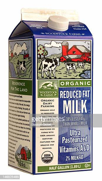 A carton of Woodstock Farms Organic milk is photographed Tuesday May 23 2006