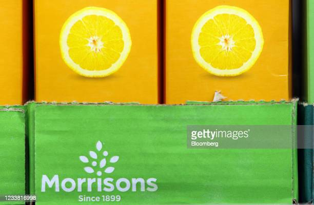 Cartons of fruit juice in a Morrisons supermarket, operated by Wm Morrison Supermarkets Plc, in Saint Ives, U.K., on Monday, July 5, 2021. Apollo...