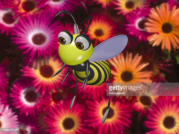 cartoon, animal, flower, cute, 3D