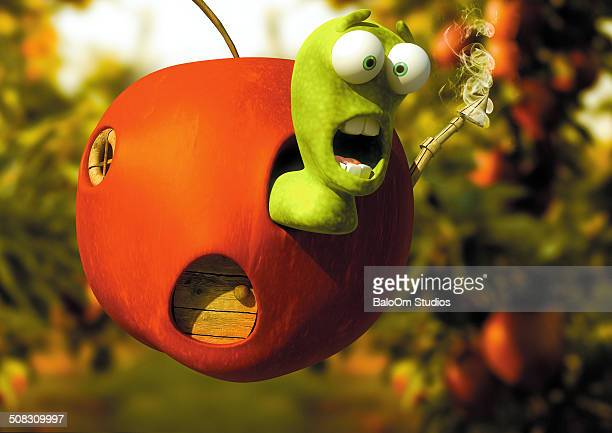 Cartoon Apple Worm