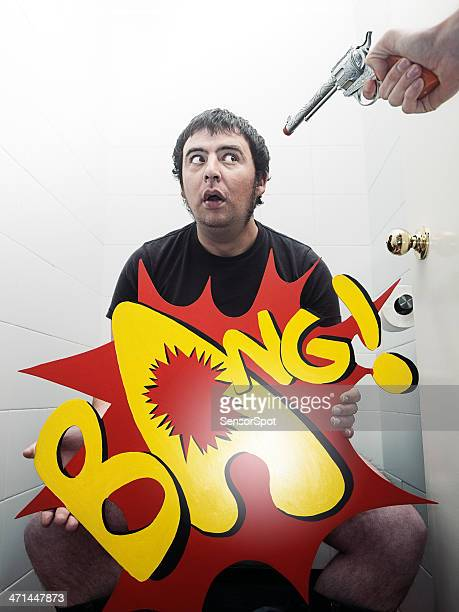 cartoon assassination. - men taking a dump stock pictures, royalty-free photos & images