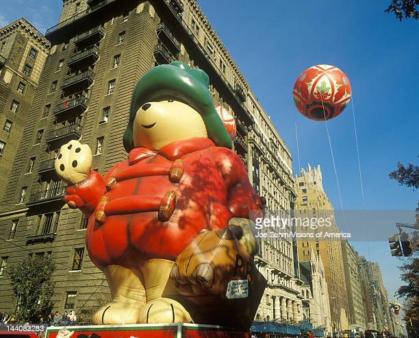 Cartoon Bear Balloon in Macy's Thanksgiving Day Parade New York City New York