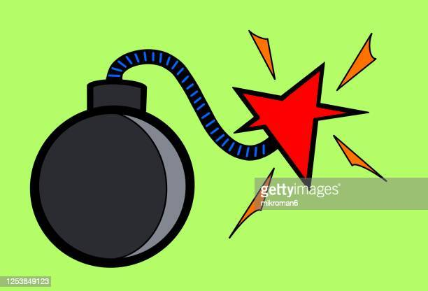 cartoon bomb - explosive stock pictures, royalty-free photos & images