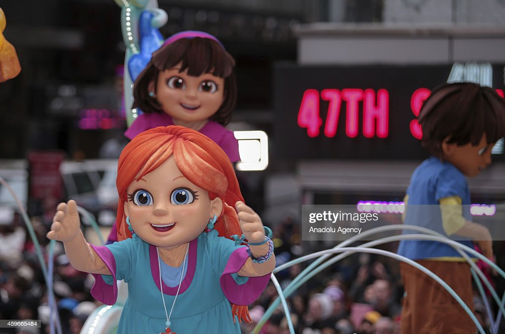 A Cartoon character attends the 88th Annual Thanksgiving Day Parade outside Macy's Department Store in Herald Square on November 27, 2014 in New York City.
