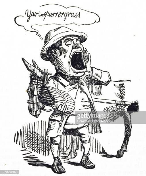 Cartoon commenting on the joys of Spring before the age of the freezer Dated 19th century