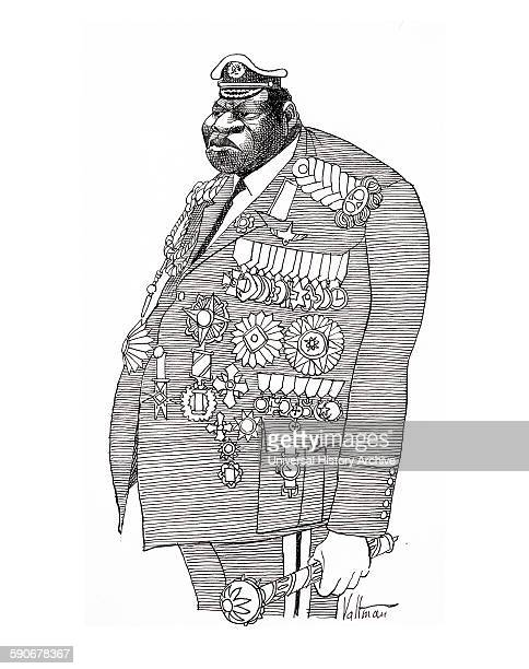 Cartoon depicting Field Marshall, Idi Amin Dada President of Uganda, from 1971 to 1979.